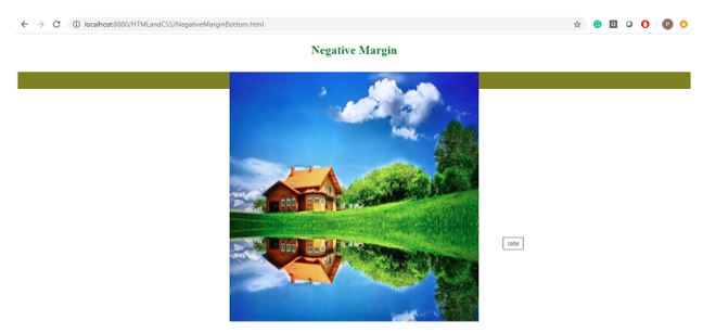 Neagtive margin in css 4