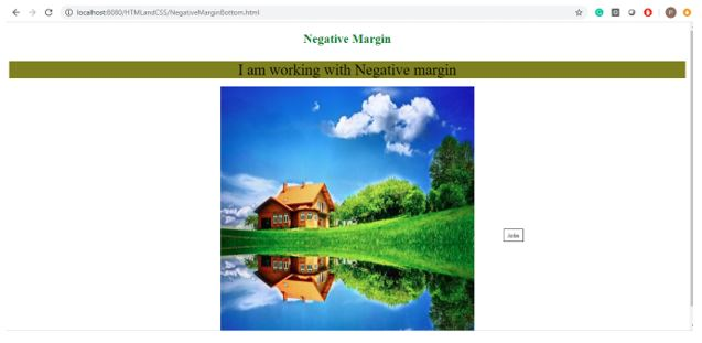 Negative margin in css 3