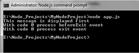 Node.js Process output 1