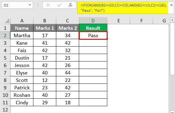 Complex Criteria in Combination 2-6
