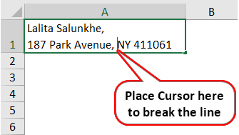 Carriage Return in Excel 4