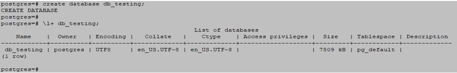 PostgreSQL Database output 1