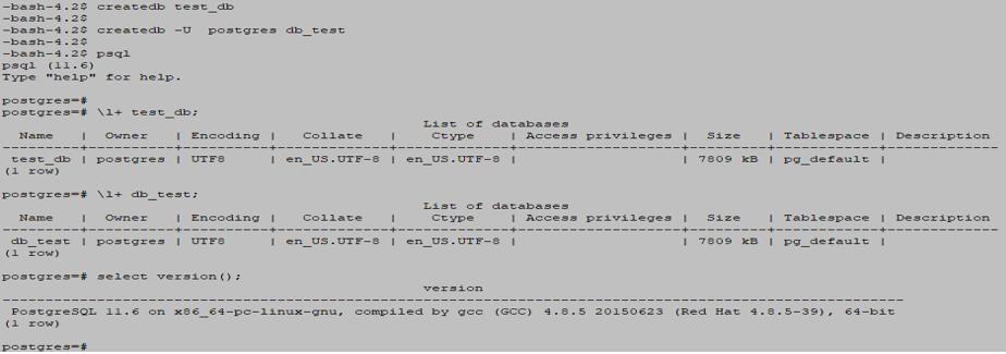 PostgreSQL Database output 2