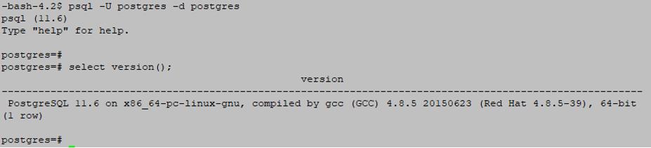PostgreSQL Database output 3