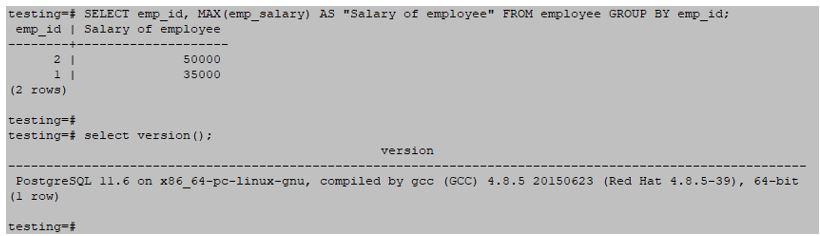 PostgreSQL GROUP BY op 5
