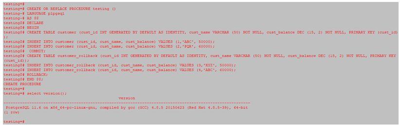 PostgreSQL Procedures 1