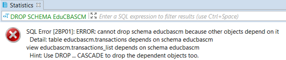 Remove an Empty Schema