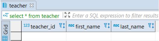 PostgreSQL Table - 7