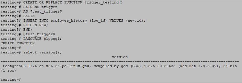 PostgreSQL Triggers output 2