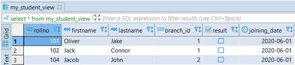 PostgreSQL Views - 2
