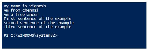 PowerShell Concatenate String 10