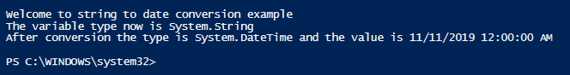 PowerShell Convert String to Date 1