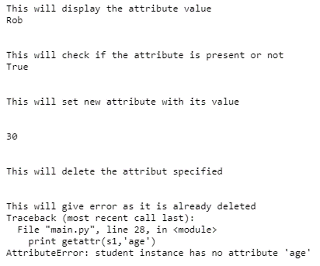 Python Class Attributes- example2