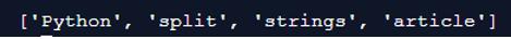 Python Split String output 1