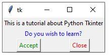 Python Tkinter 1