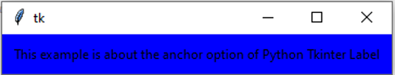 Python Tkinter Label-1.1