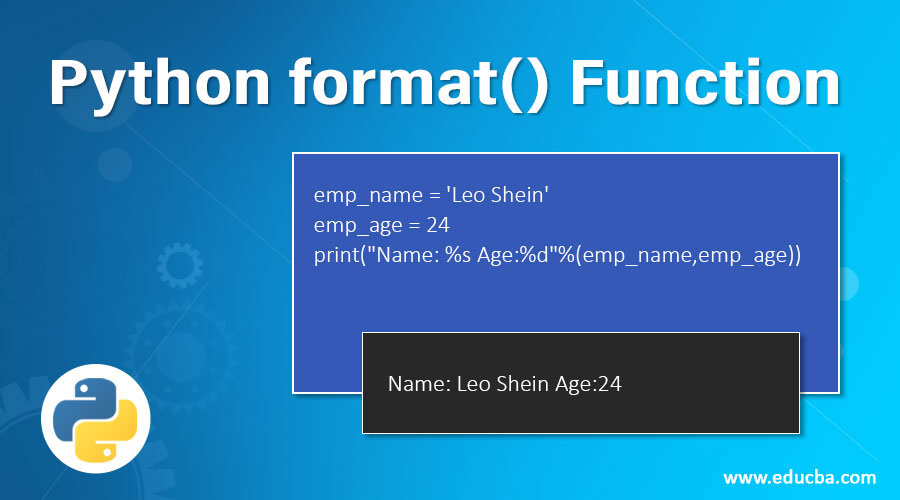 Python-format()-Function
