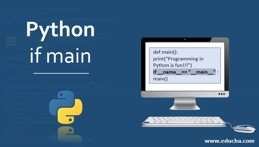 Python if main