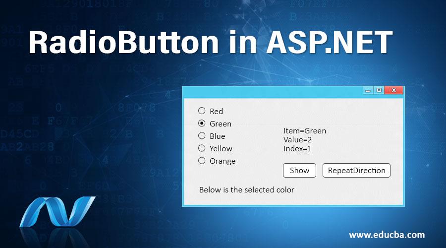 RadioButton in ASP.NET