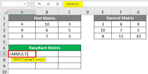 Resultant Matrix 2-2
