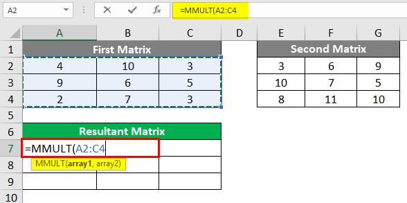 Resultant Matrix 2-3