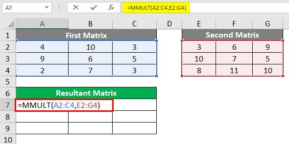 Resultant Matrix 2-4