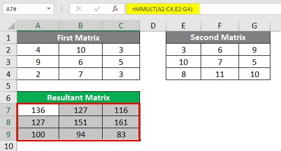 Resultant Matrix 2-5