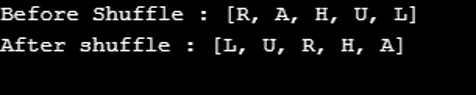 Shuffle() in Java-1.1