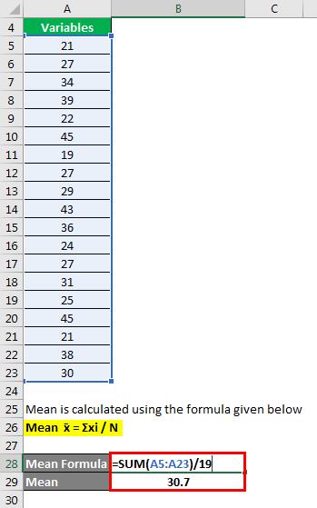 Statistics Formula - 1.2