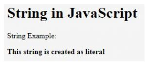 String in JavaScript 1