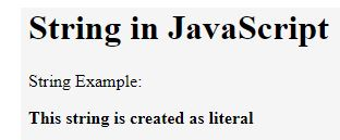String in JavaScript 2