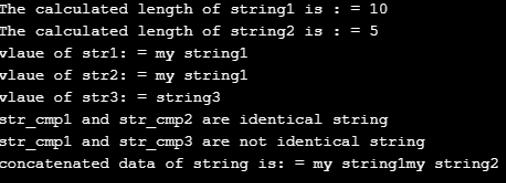 String in c- 3