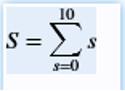 Summation in Matlab input 1
