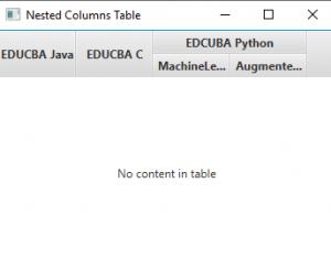 Nested Column Output