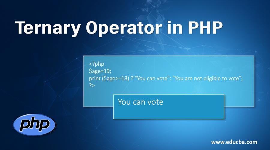 Ternary Operator in PHP