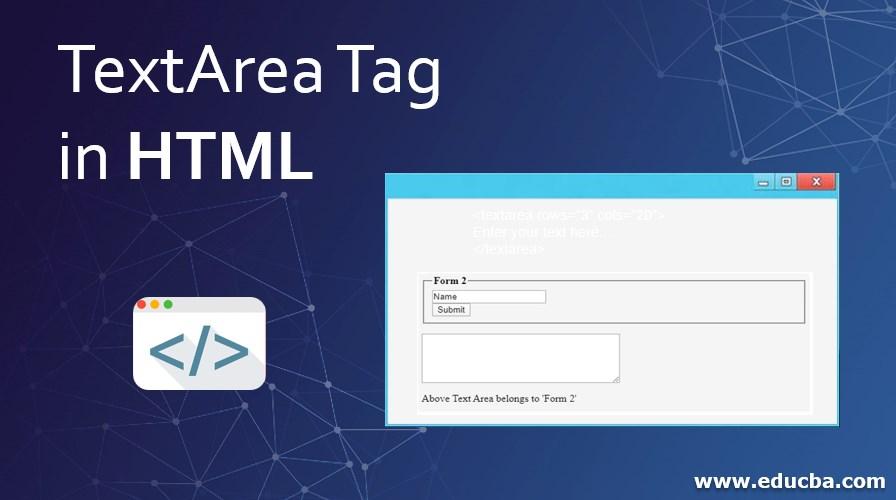 TextArea Tag in HTML