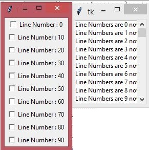 Tkinter Scrollbar Example