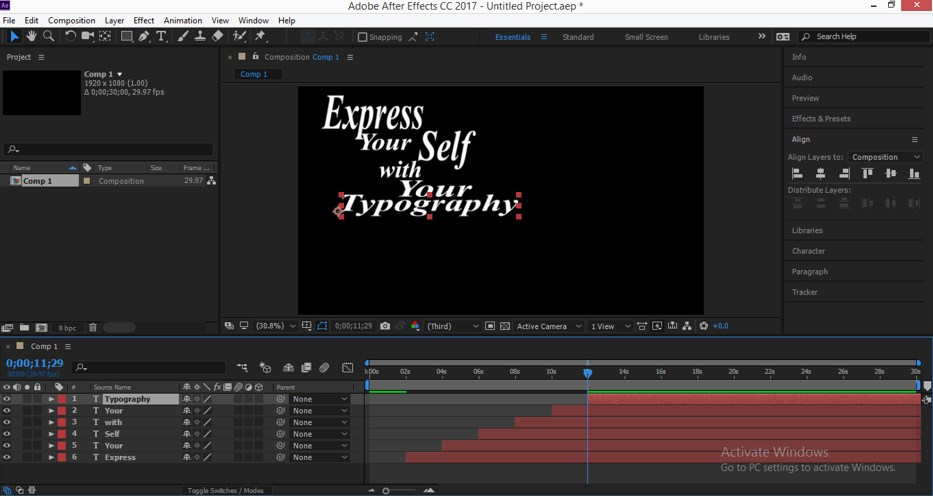 Typography in After Effects - 14
