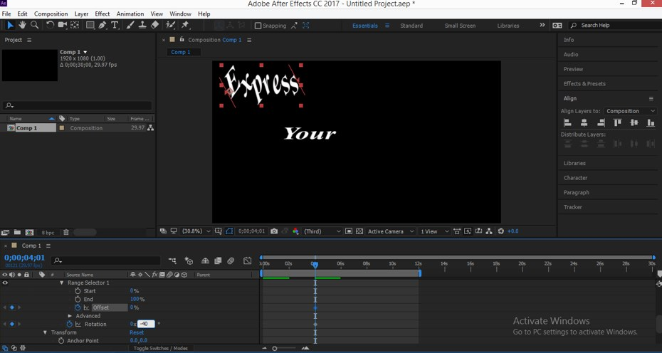 Typography in After Effects - 17