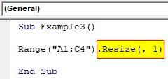VBA Resize Example 3-2