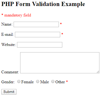 Validation in PHP - 3