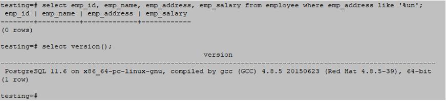 Wildcards in PostgreSQL output 3
