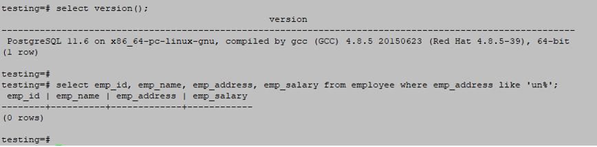 Wildcards in PostgreSQL output 4