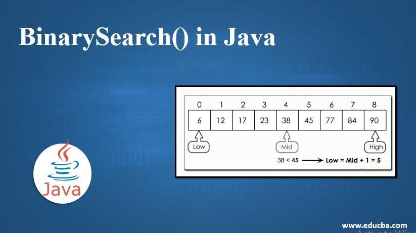 binaryserach in java