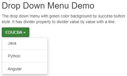 bootstrap dropdown menu 2