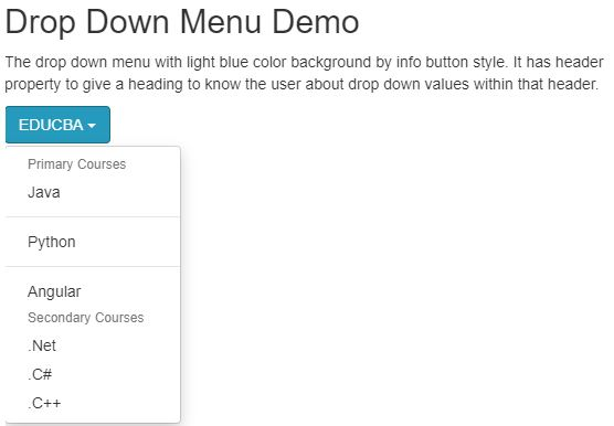 bootstrap dropdown menu 3