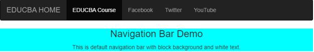 bootstrap navigation bar output 1