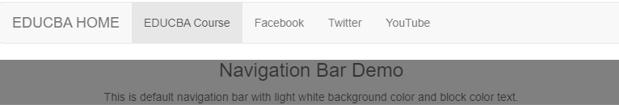 bootstrap navigation bar output 2