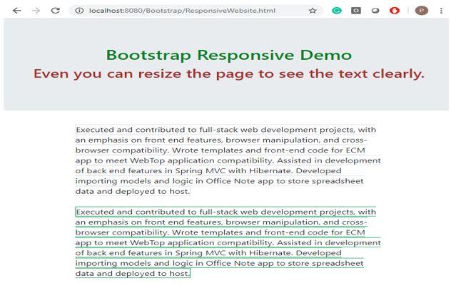 bootstrap responsive 2