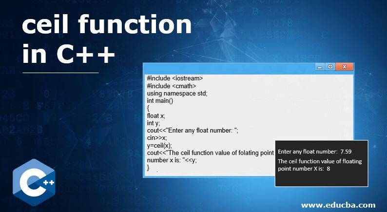 ceil function in C++
